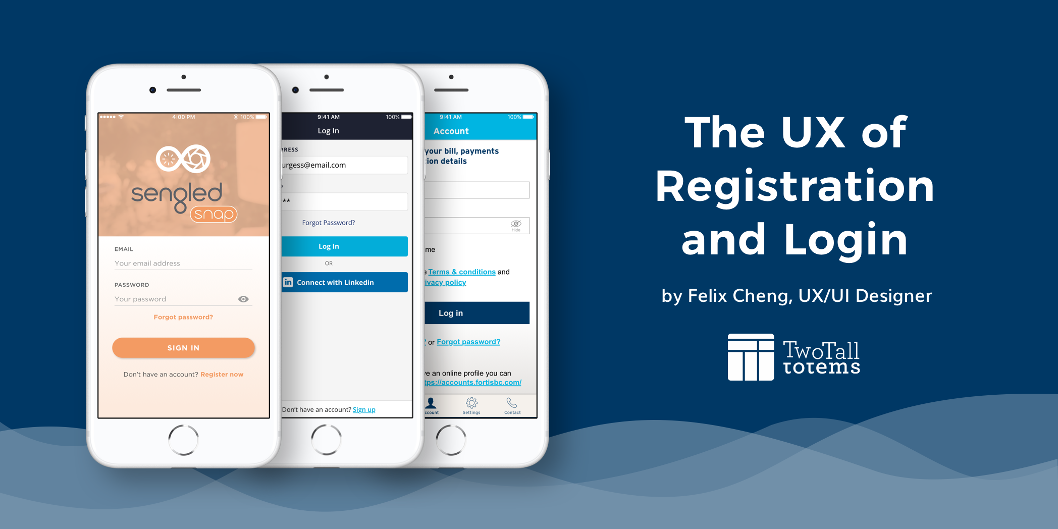The UX of registration and login