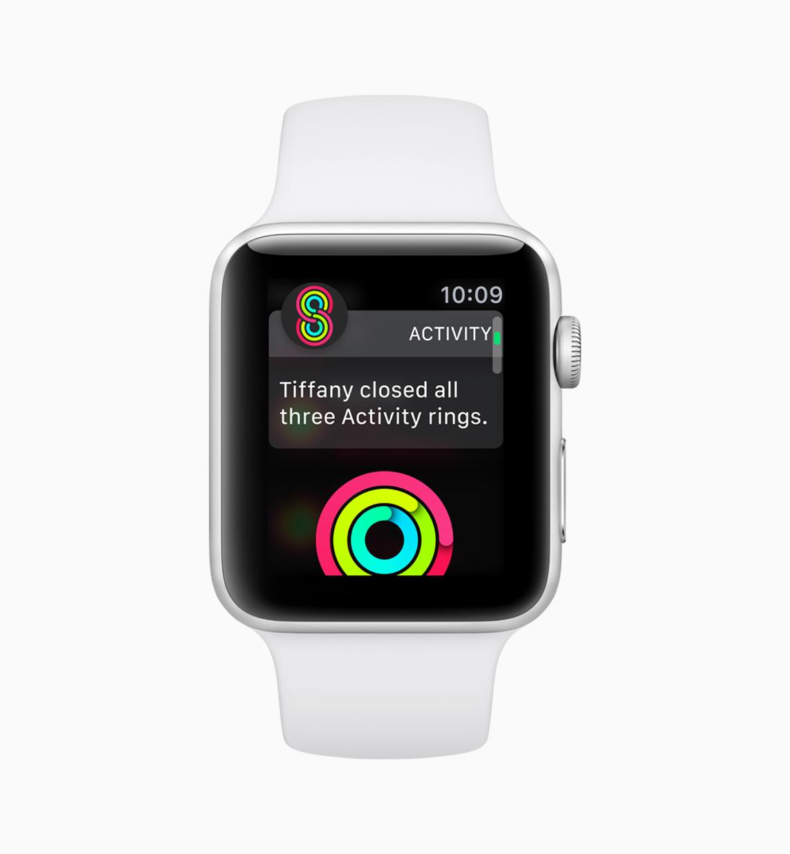 Example of activities app on watchOS