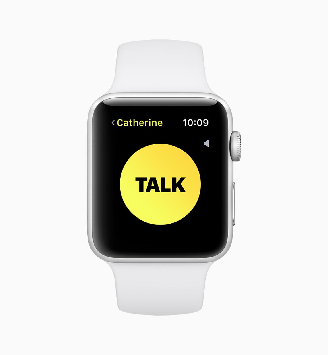 Example of walkie-talkie app on watchOS