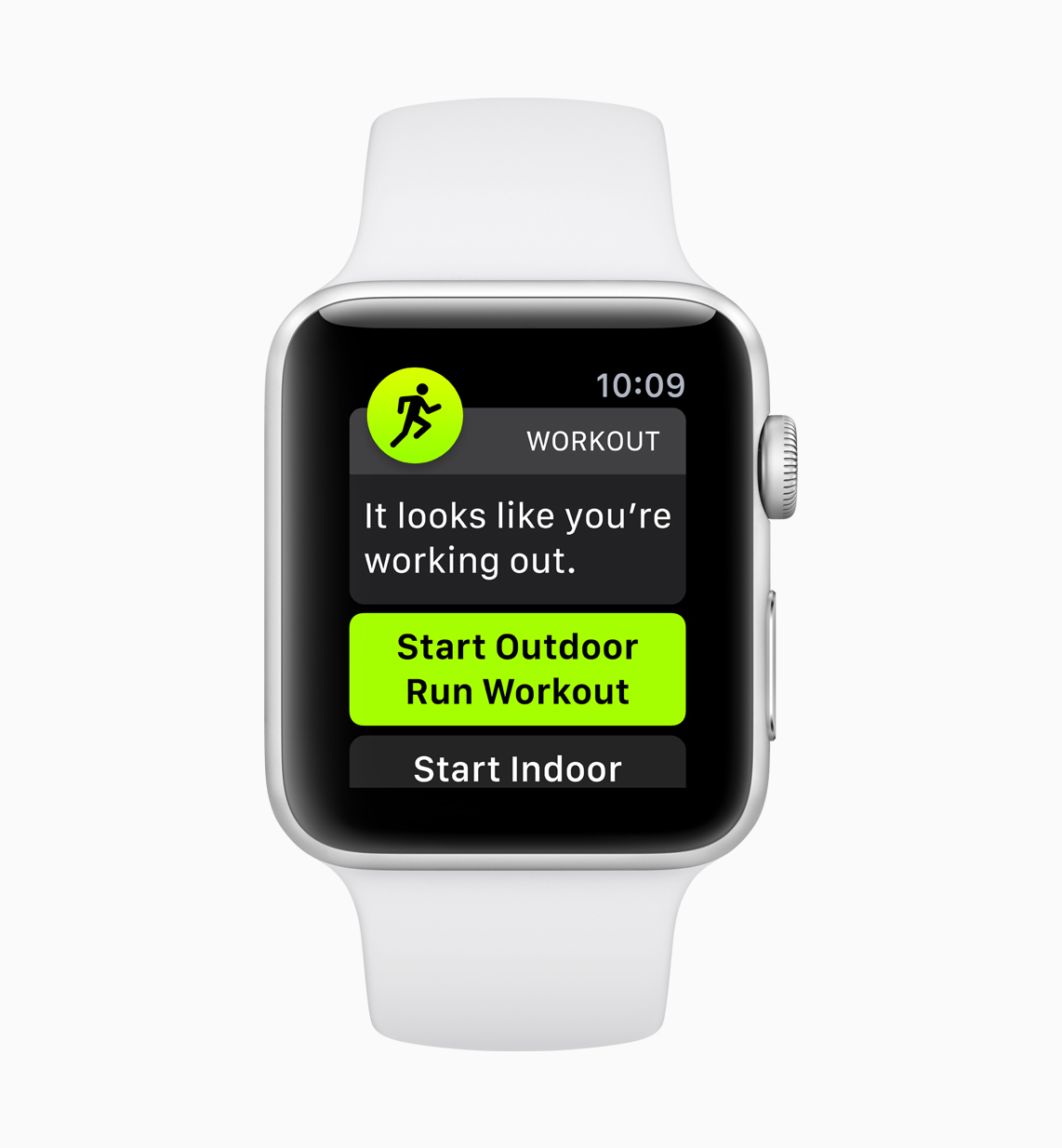 UI of the automatic workout detection on watchOS