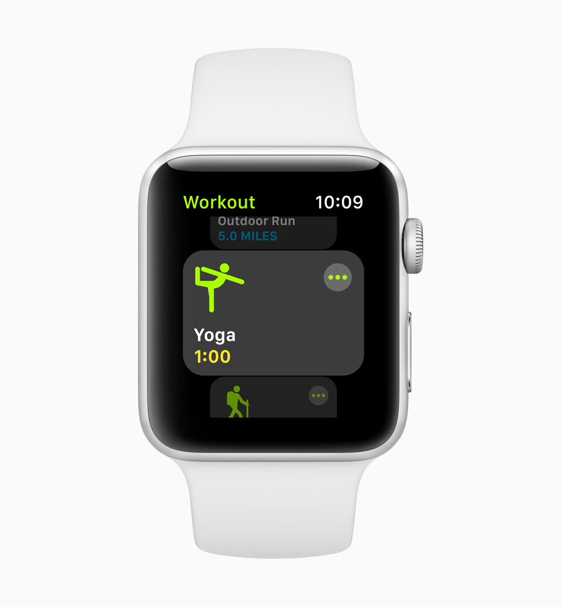 UI screen of the new workout mode on watchOS