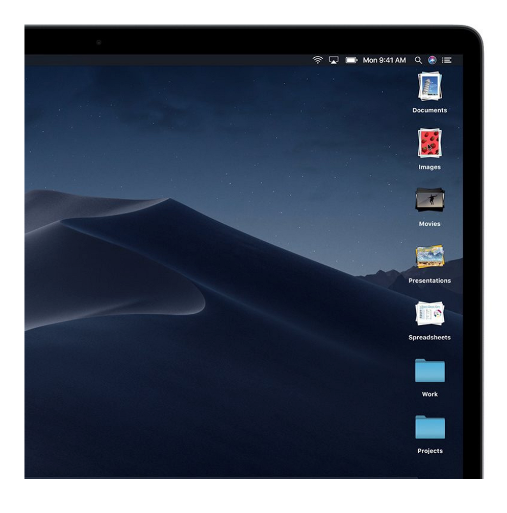 Example of stacks on macOS mojave