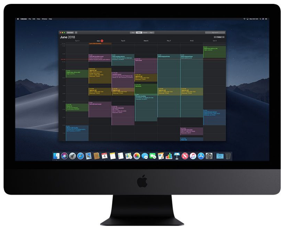 Dark mode on iOS mojave icalendar