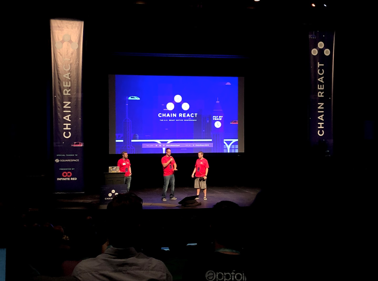 Presentation on the main stage at Chain React