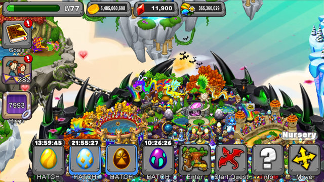 The dragonvale game in action