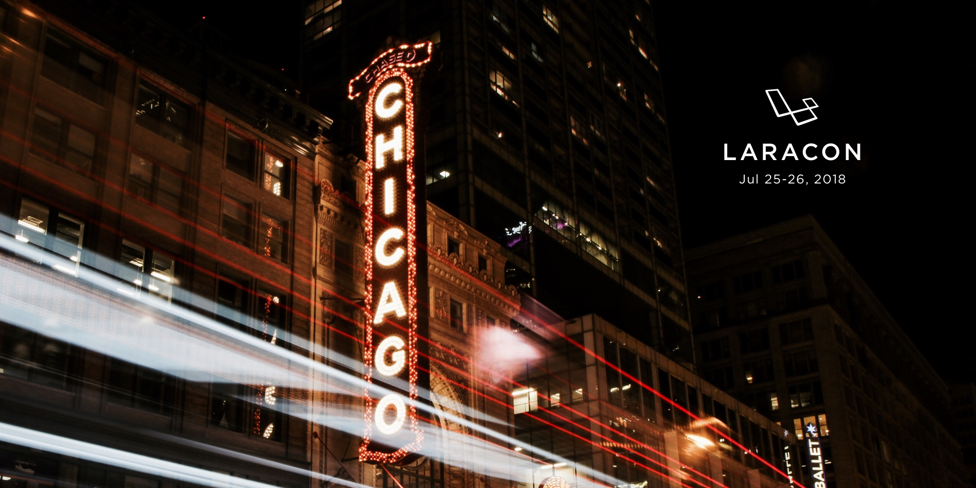 Picture of Chicago in giant lights in city