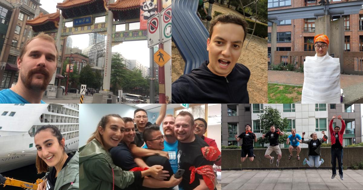 Photo collage of team orange