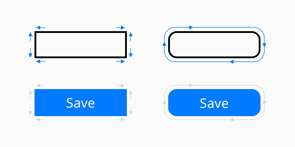 Rectangular vs. rounded CTA button