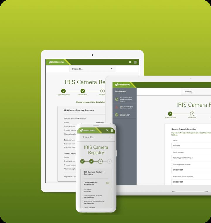 City of Surrey online portal