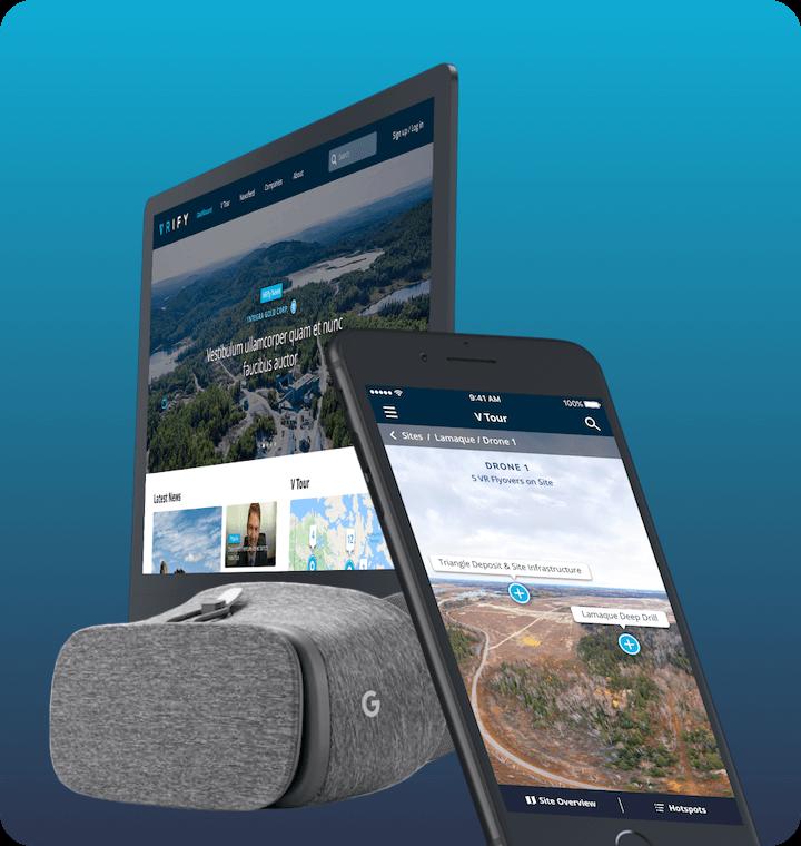 Virtual reality android mining app VRify