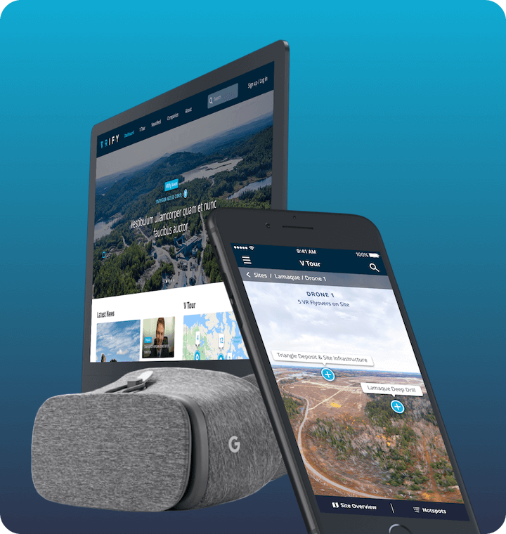 Virtual reality android mining app VRify on mobile, desktop, and google daydream goggles