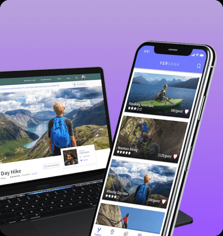 iOS and web app Yervana