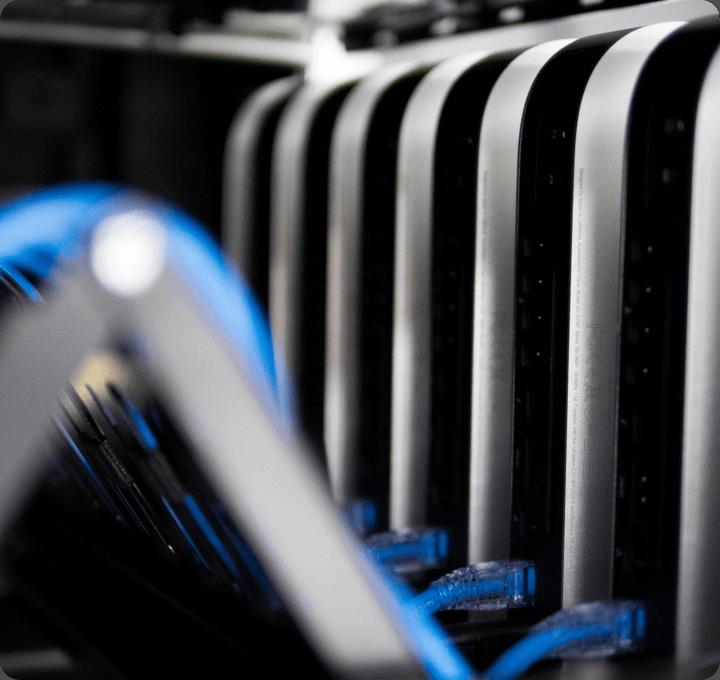 TTT services backend development, close-up image of a backend server