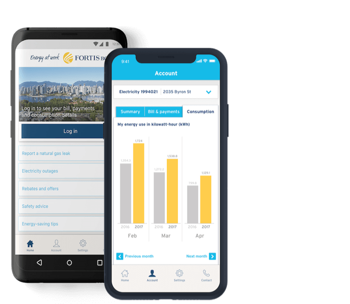 FortisBC app design