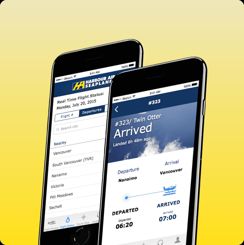 Harbour Air mobile app