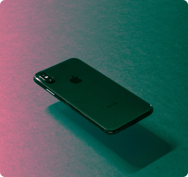 TTT Services Mobile App Development: Stylistic picture of the back of an iphone X