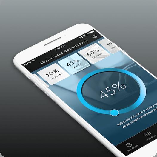 Revols app soundscape screen