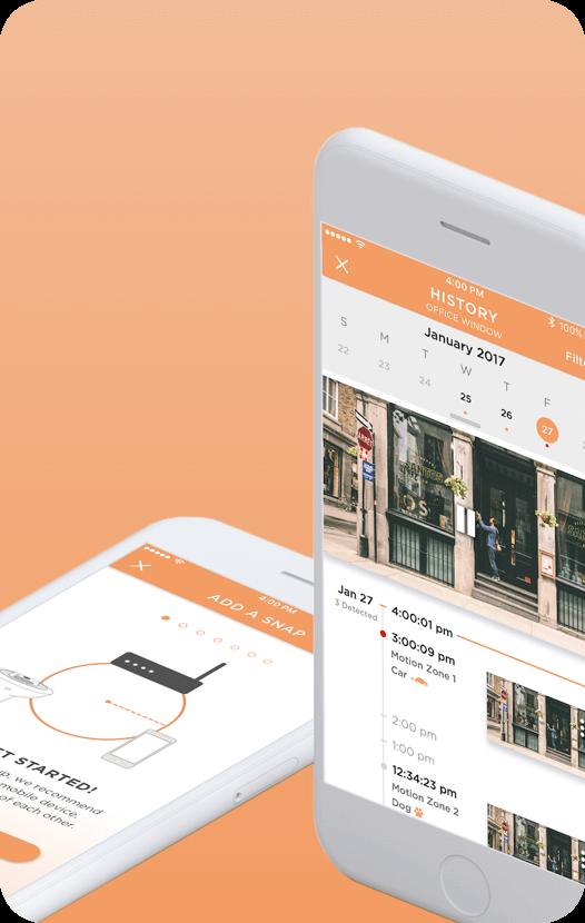 Mobile mock up of Sengled Snap App