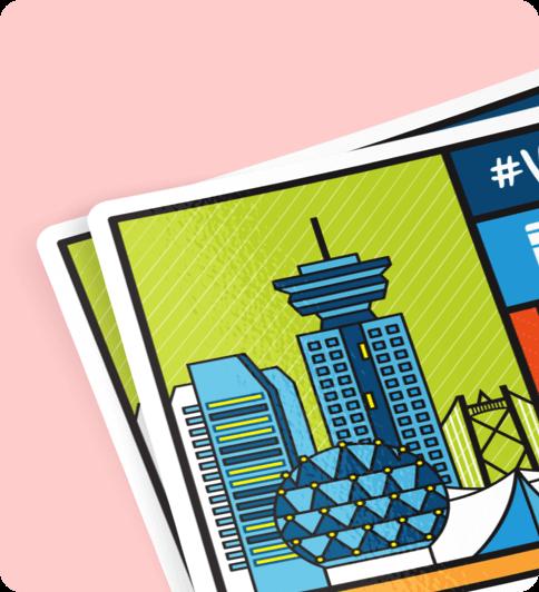 VanHacks sticker design