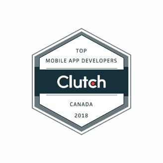 Top mobile app developers 2018 Clutch badge