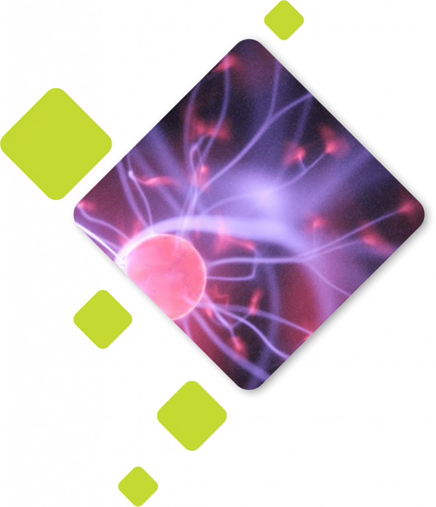 Closeup of a plasma ball looking very sciency