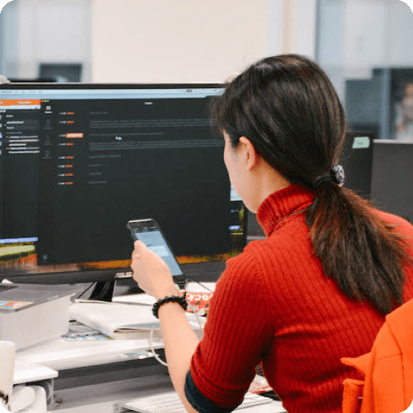 Developer testing on mobile device