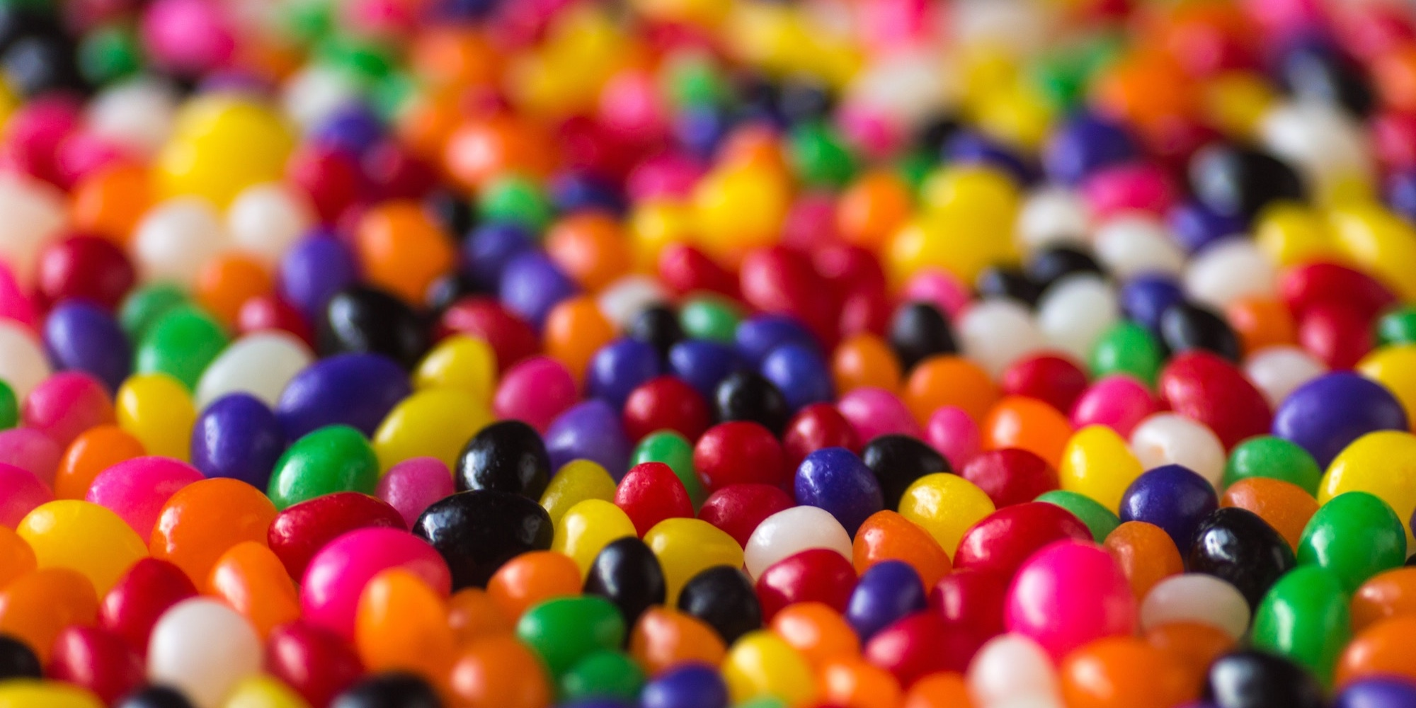 Picture of a bunch of Colourful jellybeans
