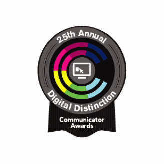 Communicator Awards badge for Digital Distinction
