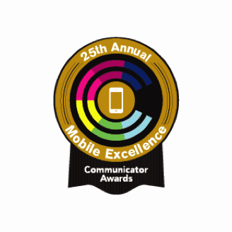 Communicator Awards badge for Mobile Excellence