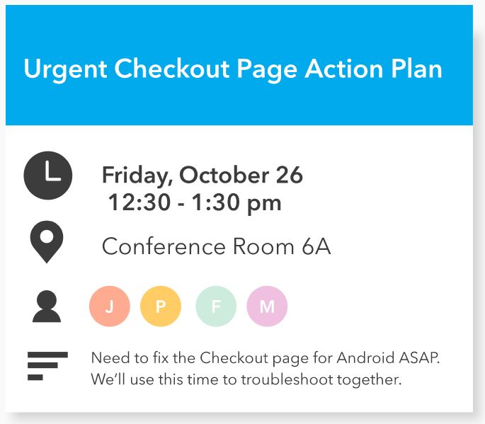 Screenshot showing the calendar event for a meeting scheduled by x.ai's scheduling chatbot.