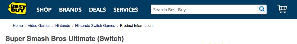 Best Buy's breadcrumbs on their website.