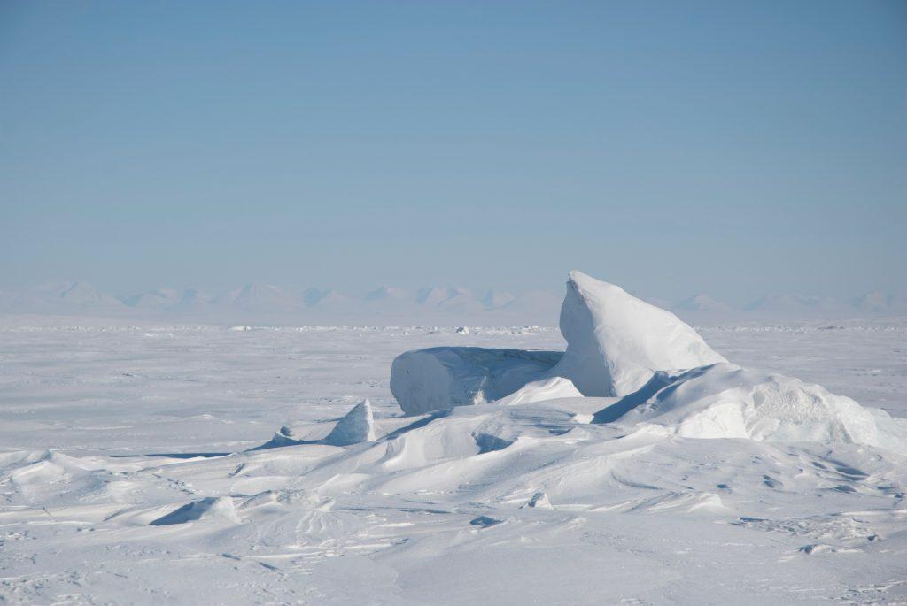 Barren arctic landscape