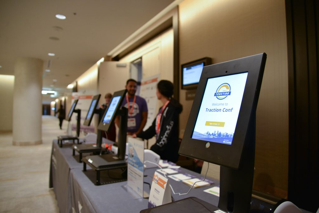AmandaAI facial recognition kiosk