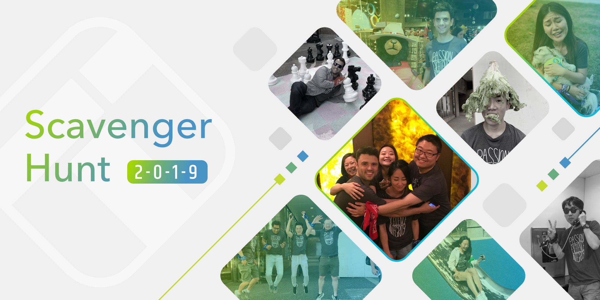 TTT Scavenger hunt blog banner with pictures from the event