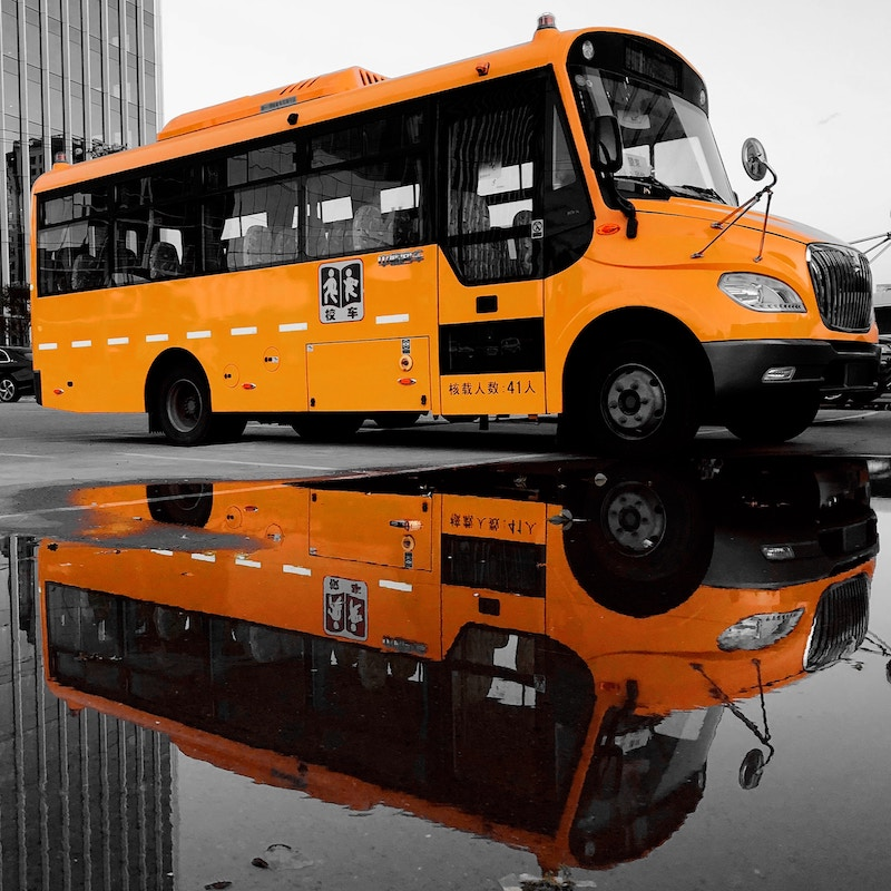 Picture of a yellow school bus