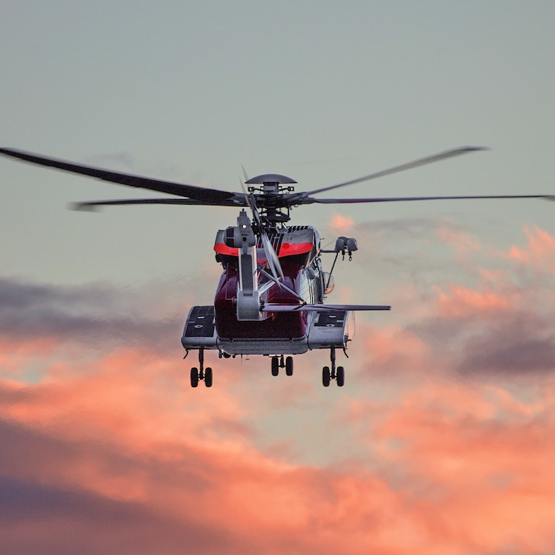 Picture of a helicopter mid flight