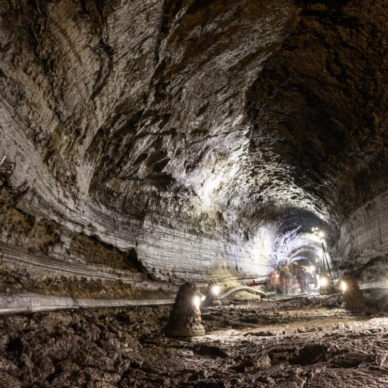 The inside of a mine