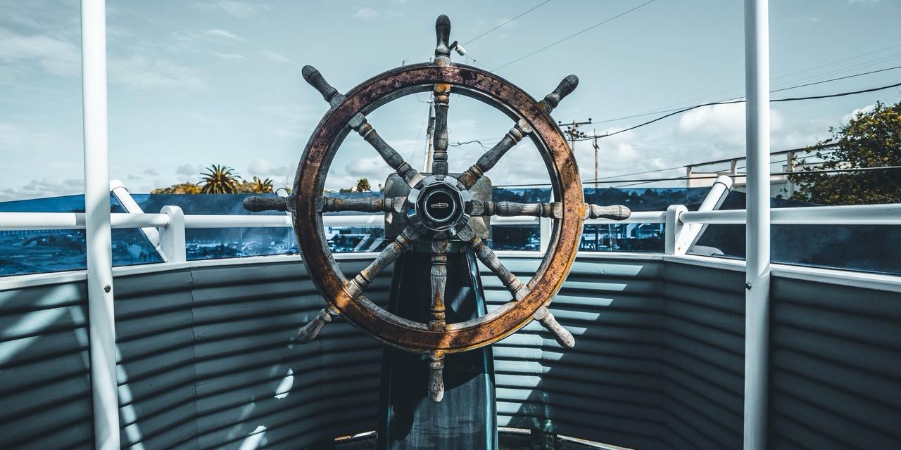 a ship's wheel