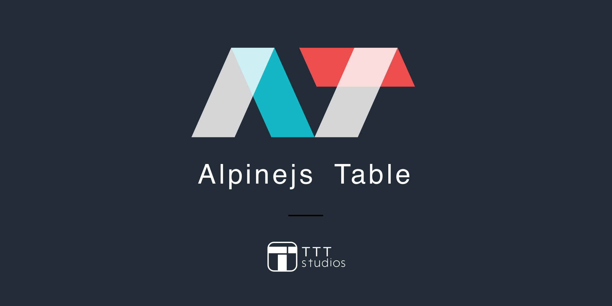 Alpinejs Table logo for blog