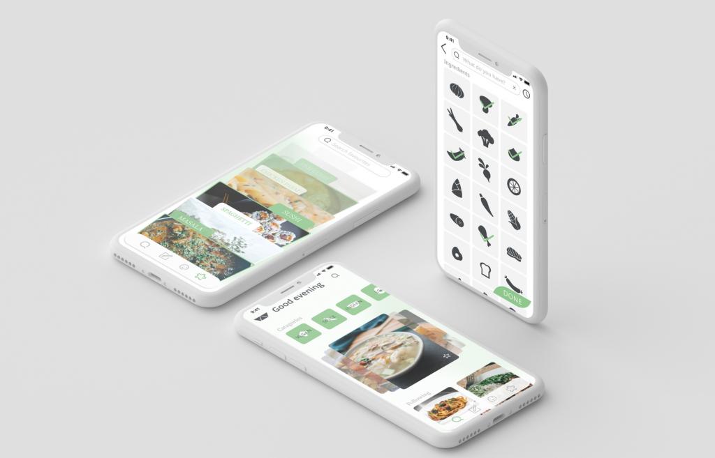 design mockups of the Alchemist app