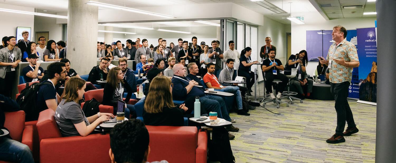 Chris addressing Hackathon participants